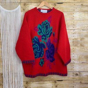 Vintage Adrienne Vittadini Floral Sweater
